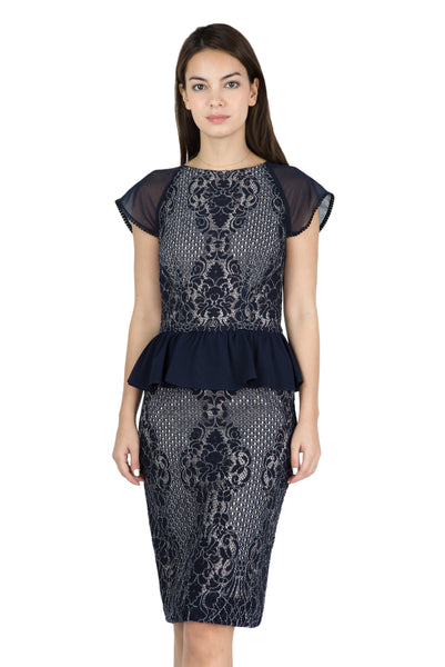 Zoe peplum lace dress