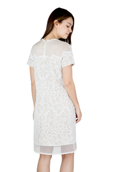 Zahra sheer shoulder lace dress