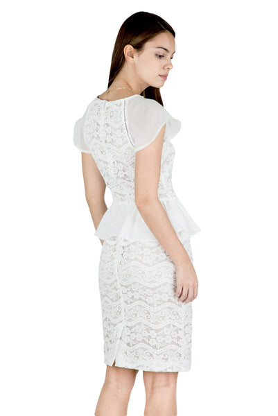 Purity peplum lace dress