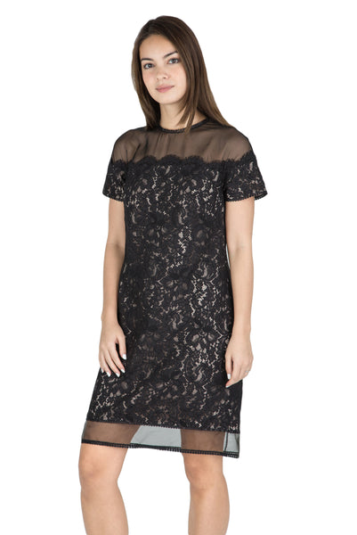 Mai sheer shoulder lace dress