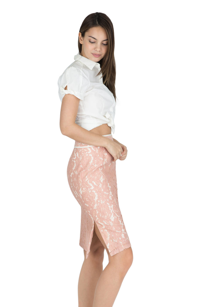 Charlize lace pencil skirt
