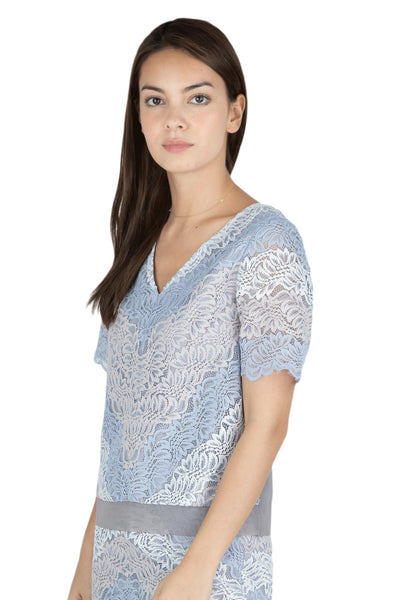 Risa lace short sleeve top