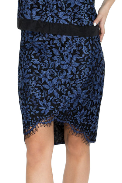 Akina high low lace pencil skirt