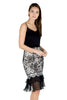 Kalin sheer ruffle lace skirt