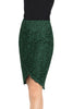 Serika high-low lace pencil skirt