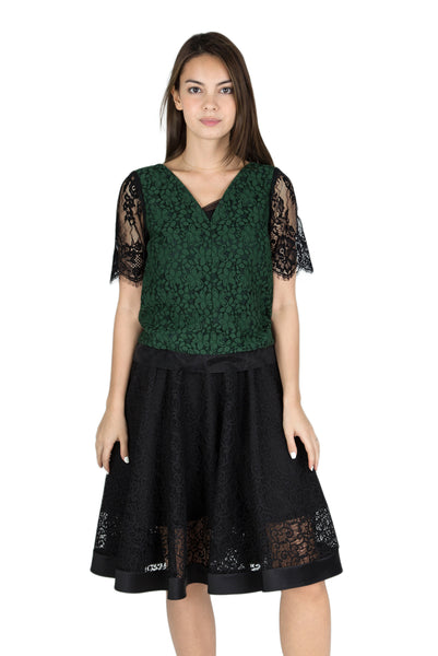 Serika lace short sleeve top