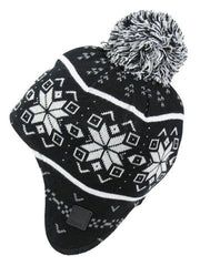 Bench Mens 'Larkk' Aztec Winter Ear Bobble Winter Beanie Hat