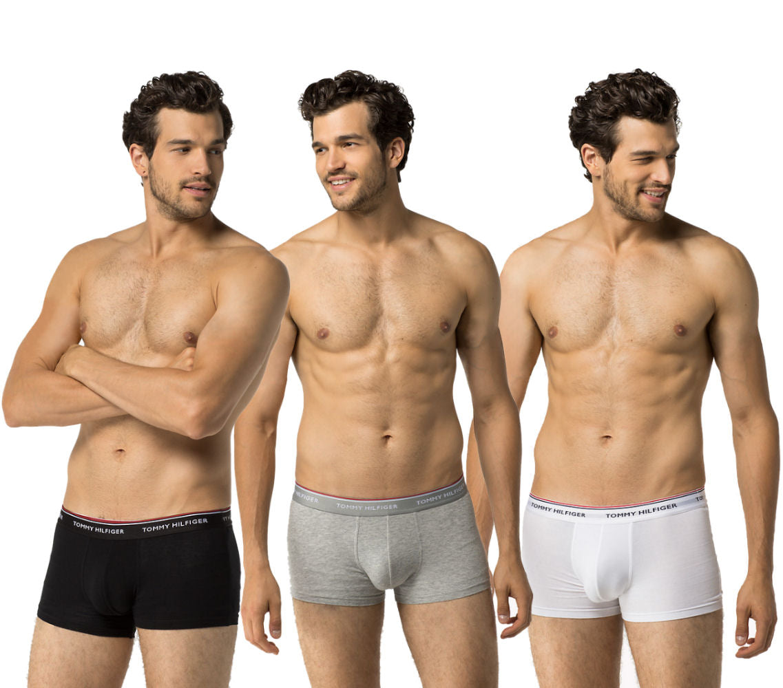 Mens Low Rise Boxer Shorts by Tommy Hilfiger - Premium Essentials (3 Pack)-Main Image