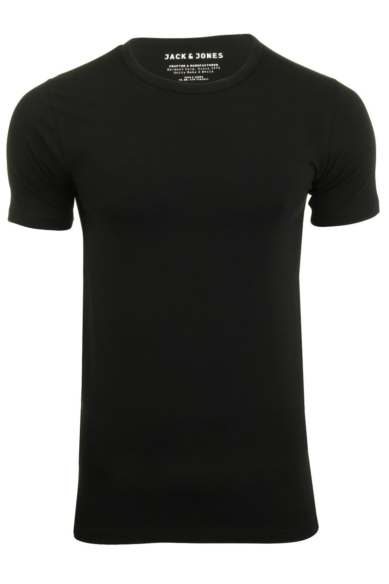 Jack & Jones Mens S/S Crew Neck T-Shirt - Slim Fit, 01, 12058529, #colour_Black