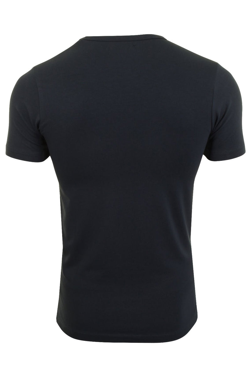 Jack & Jones Mens S/S Crew Neck T-Shirt - Slim Fit, 02, 12058529, #colour_Navy Blue