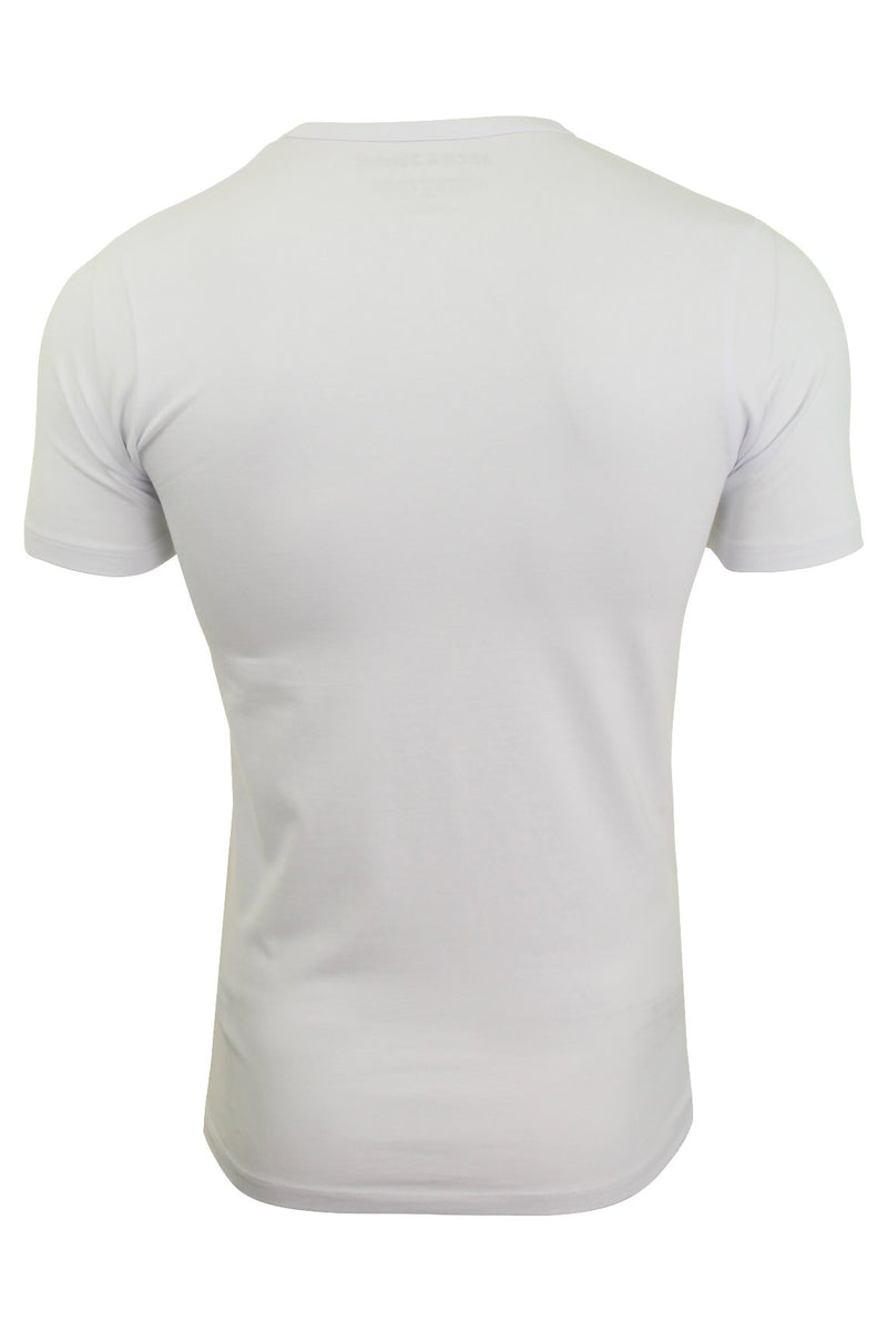Jack & Jones Mens S/S Crew Neck T-Shirt - Slim Fit, 02, 12058529, #colour_Optical White