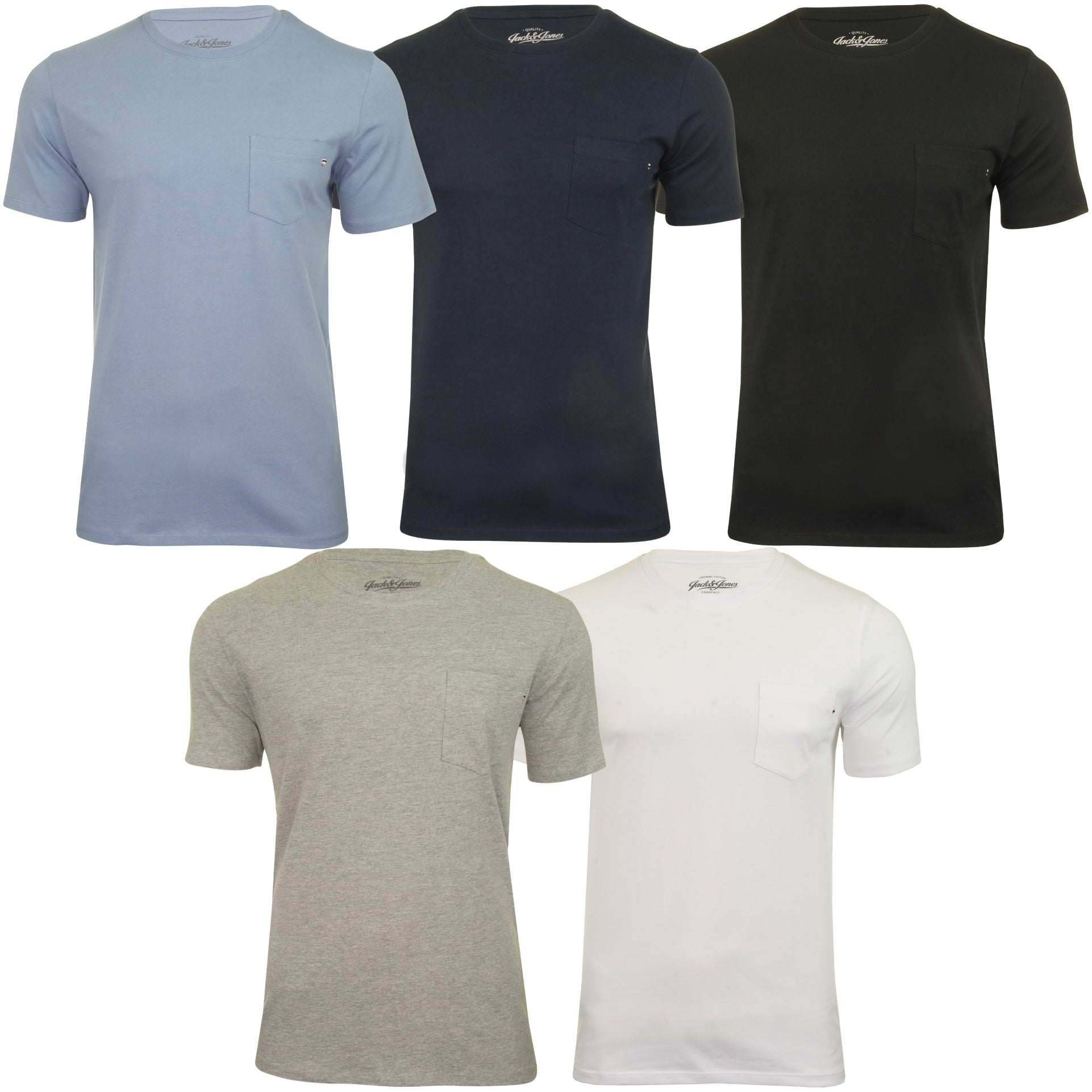 Jack & Jones Mens T-Shirt 'Pocket' - Short Sleeved-Main Image