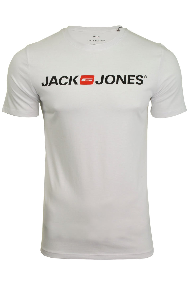 Jack & Jones Mens 'JJECORP' T-Shirt, 01, 12137126, #colour_White
