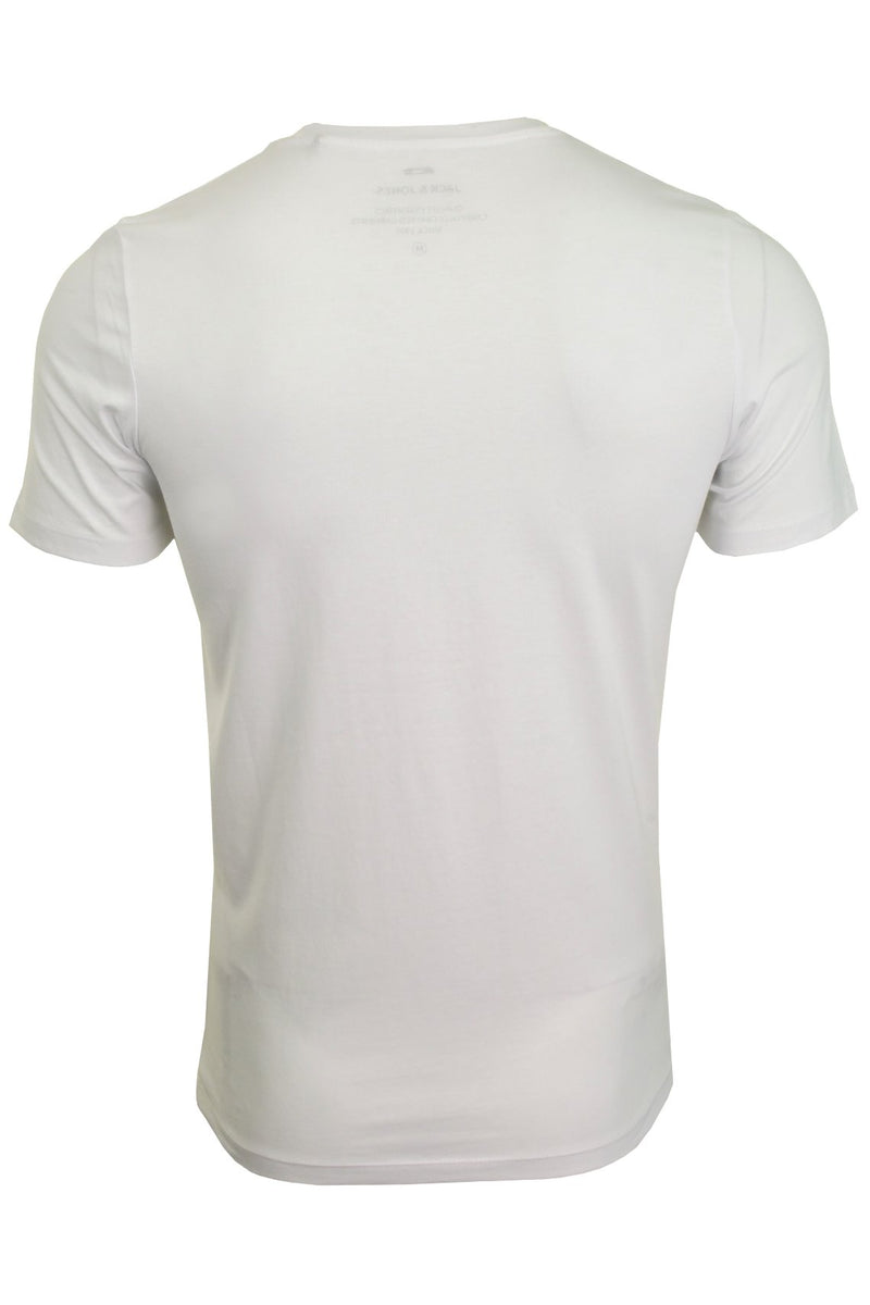 Jack & Jones Mens 'JJECORP' T-Shirt, 02, 12137126, #colour_White