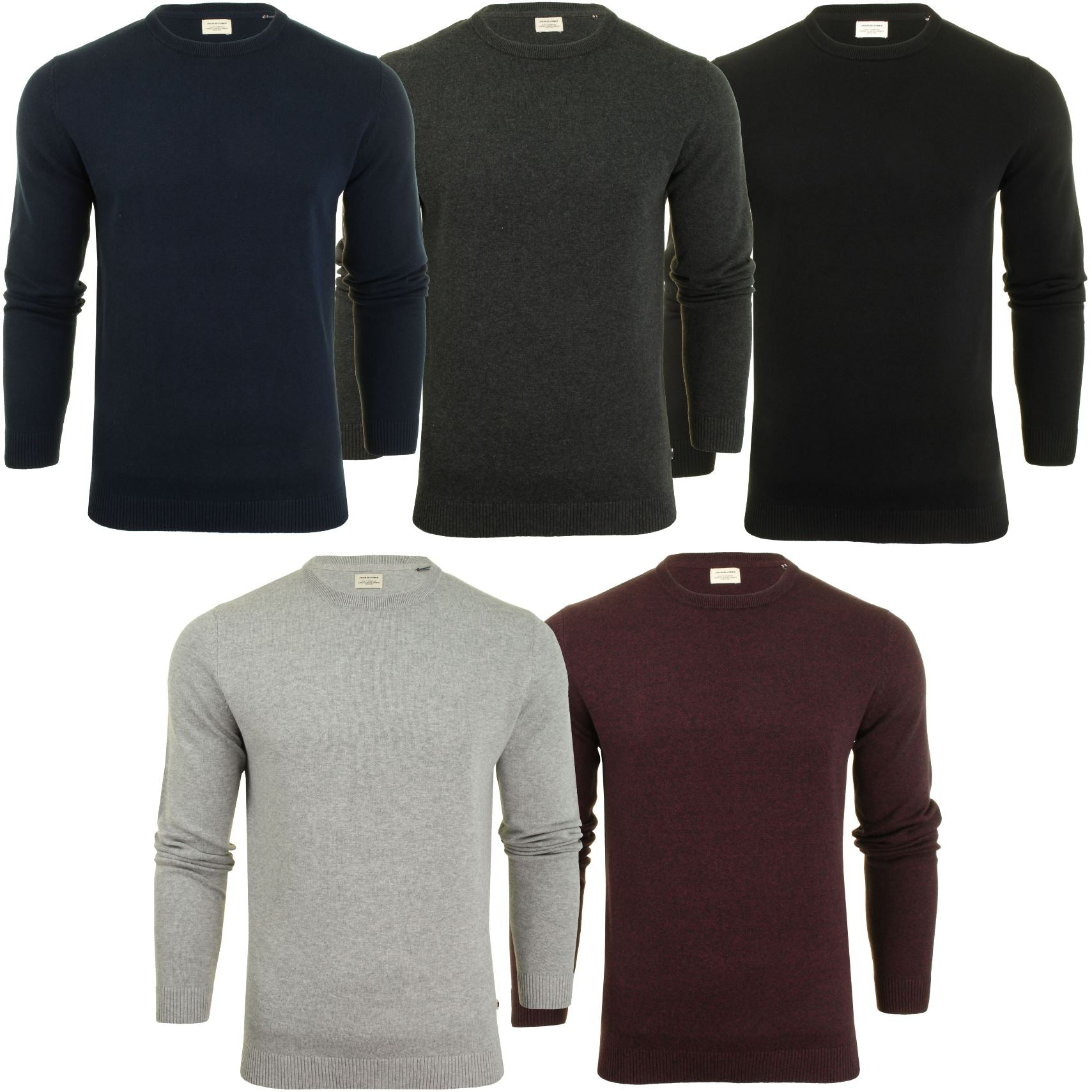 Jack & Jones Mens Crew Neck Jumper-Main Image