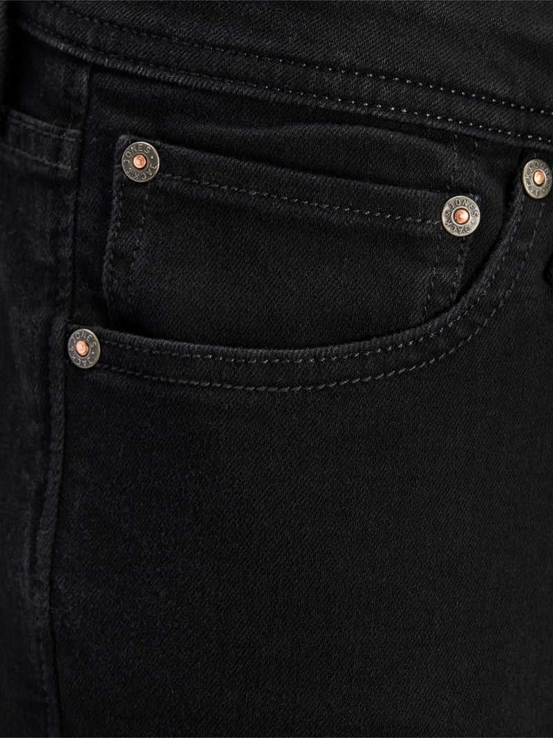 Jack & Jones 'Glenn' Slim Fit Jeans, 04, 12152346, #colour_Solid Black Denim