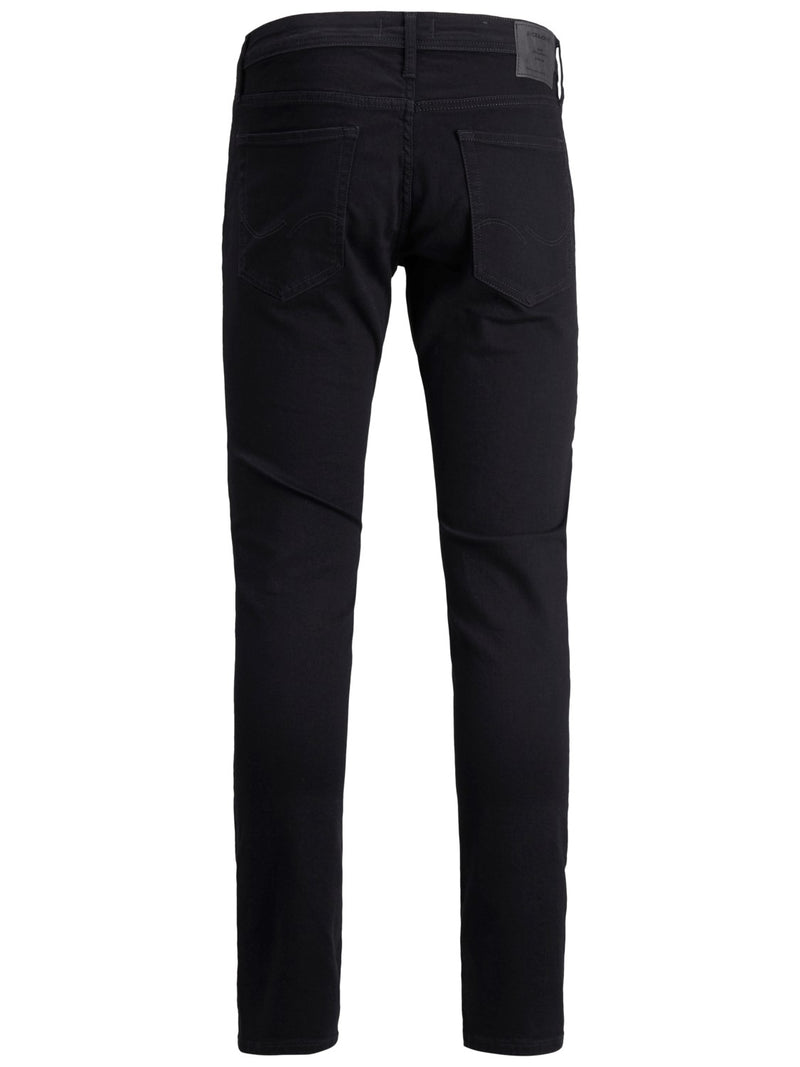 Jack & Jones 'Glenn' Slim Fit Jeans, 02, 12152346, #colour_Solid Black Denim