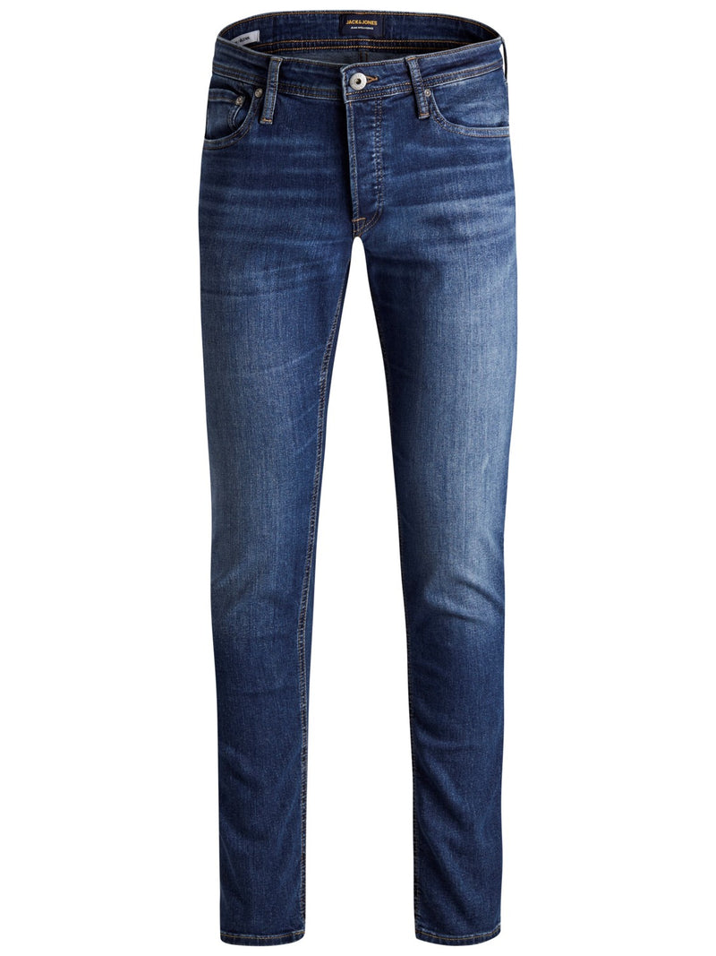 Jack & Jones 'Glenn' Slim Fit Jeans, 01, 12152346, #colour_Blue Denim