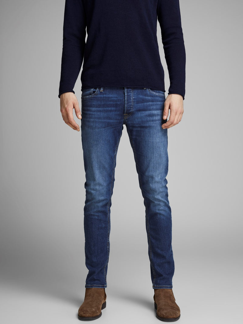 Jack & Jones 'Glenn' Slim Fit Jeans, 04, 12152346, #colour_Blue Denim