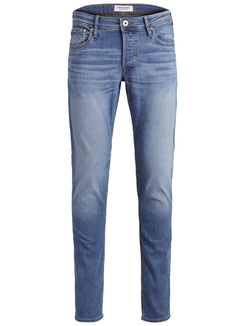 Jack & Jones 'Glenn' Slim Fit Jeans, 01, 12152346, #colour_Lt Blue Denim
