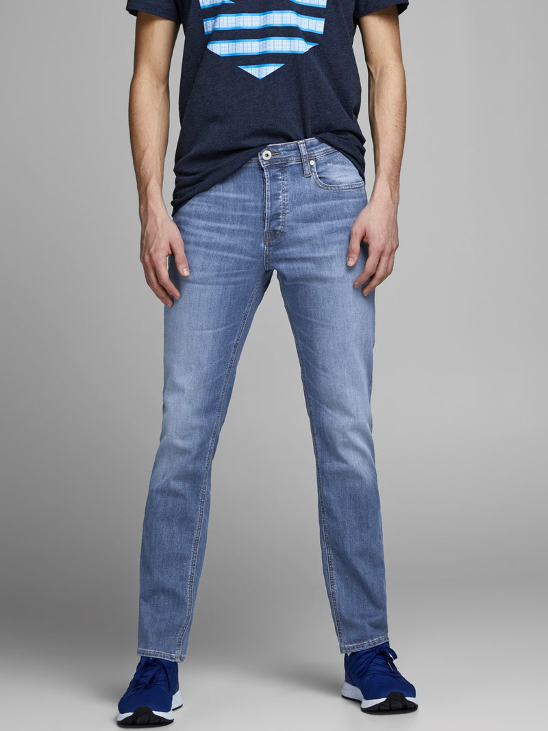 Jack & Jones 'Glenn' Slim Fit Jeans, 05, 12152346, #colour_Lt Blue Denim