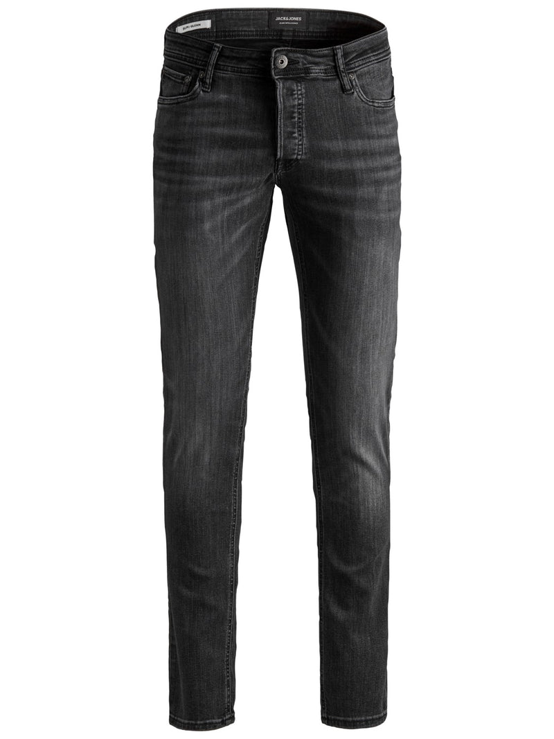 Jack & Jones 'Glenn' Slim Fit Jeans, 01, 12152346, #colour_Black Wash Denim