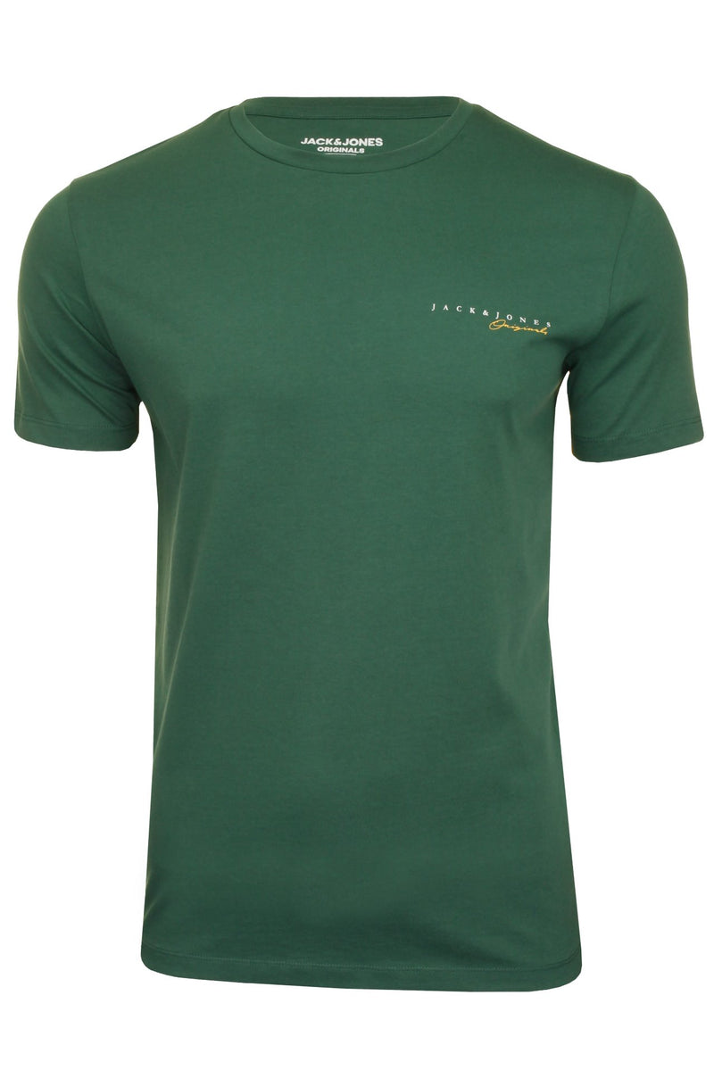 Mens Jack & Jones 'CLAYTON' T-Shirt, 01, 12177506, #colour_Trekking Green