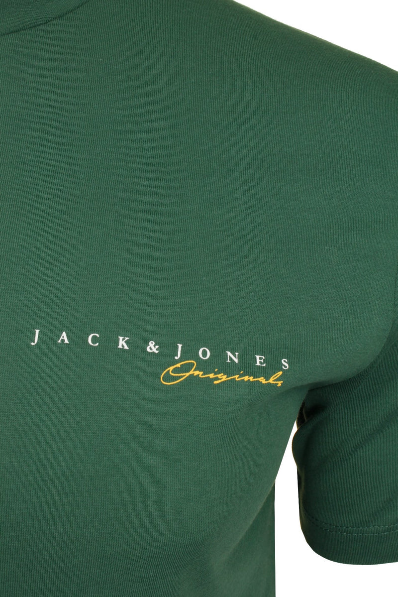 Mens Jack & Jones 'CLAYTON' T-Shirt, 02, 12177506, #colour_Trekking Green
