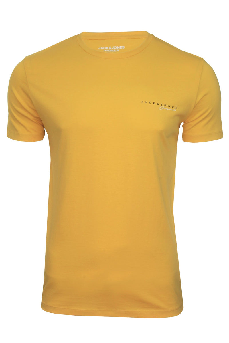 Mens Jack & Jones 'CLAYTON' T-Shirt, 01, 12177506, #colour_Spicy Mustard