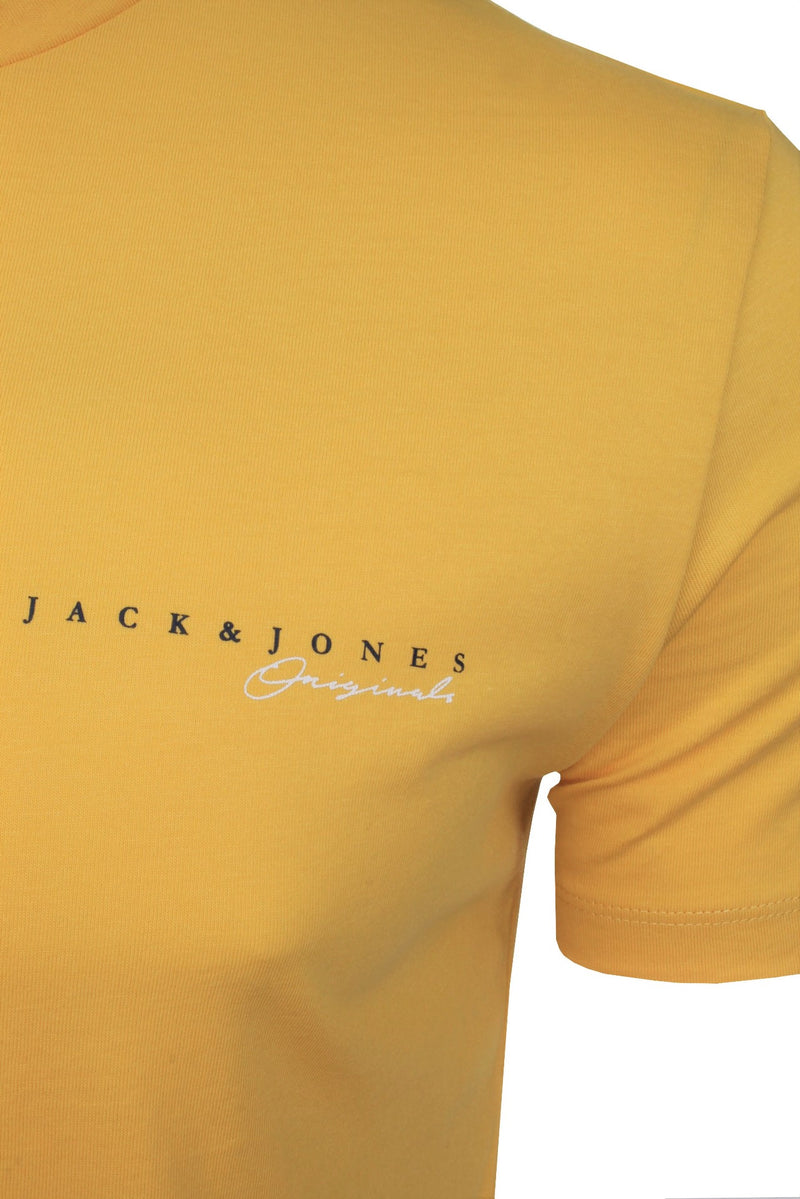 Mens Jack & Jones 'CLAYTON' T-Shirt, 02, 12177506, #colour_Spicy Mustard