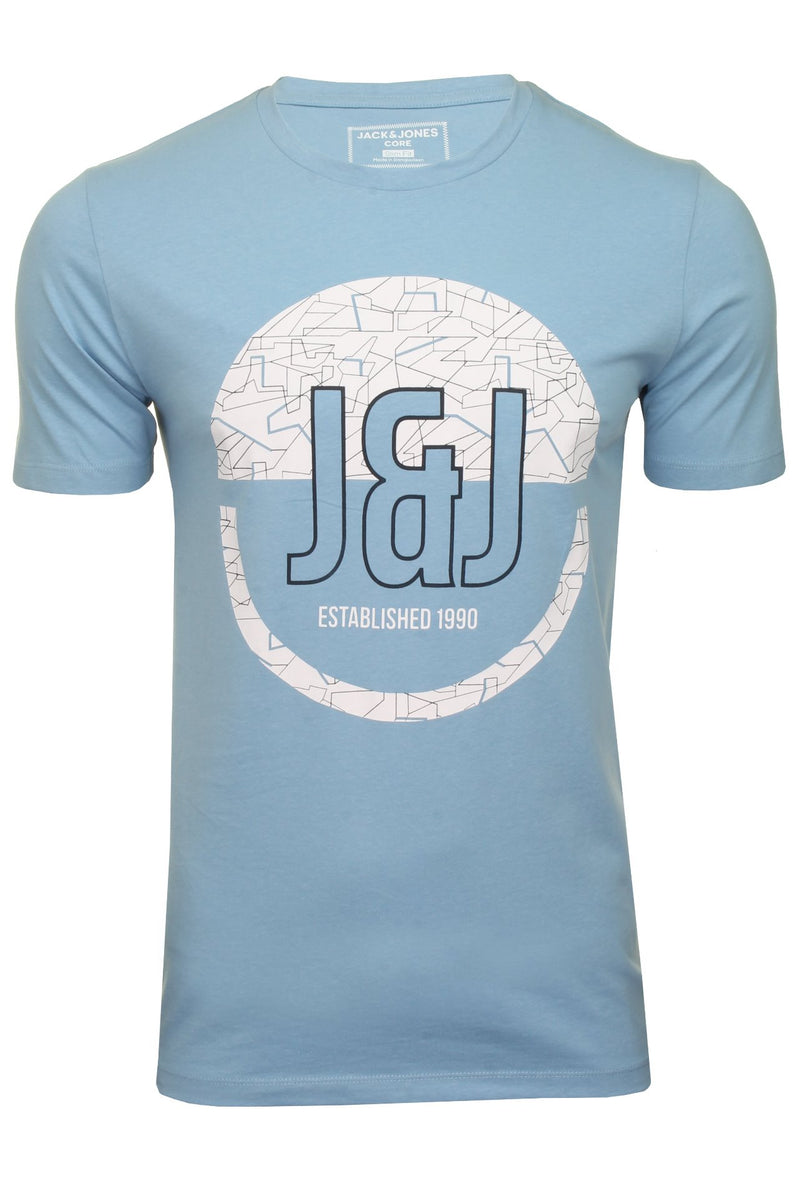 Jack & Jones 'Booster' T-Shirt - Short Sleeved, 01, 12183181, #colour_Dusk Blue