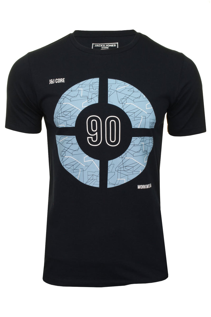 Jack & Jones 'Booster' T-Shirt - Short Sleeved, 01, 12183181, #colour_Sky Captain