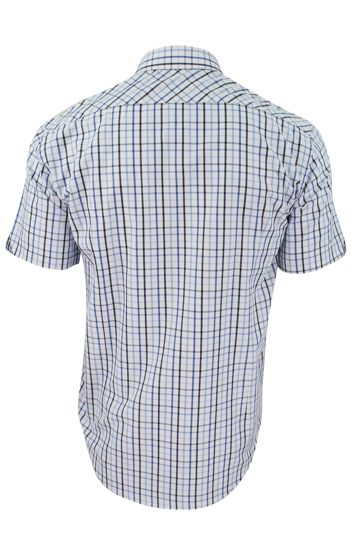 Xact Mens Check Shirt Short Sleeves-3
