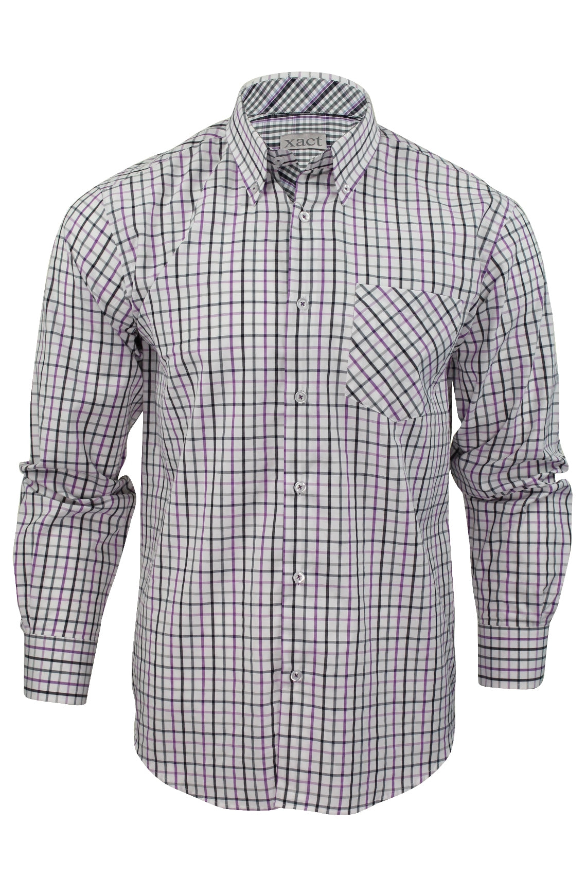 Mens Long Sleeved Check Shirt by Xact Clothing_01_1510116