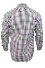 Mens Long Sleeved Check Shirt by Xact Clothing_04_1510116_Lilac