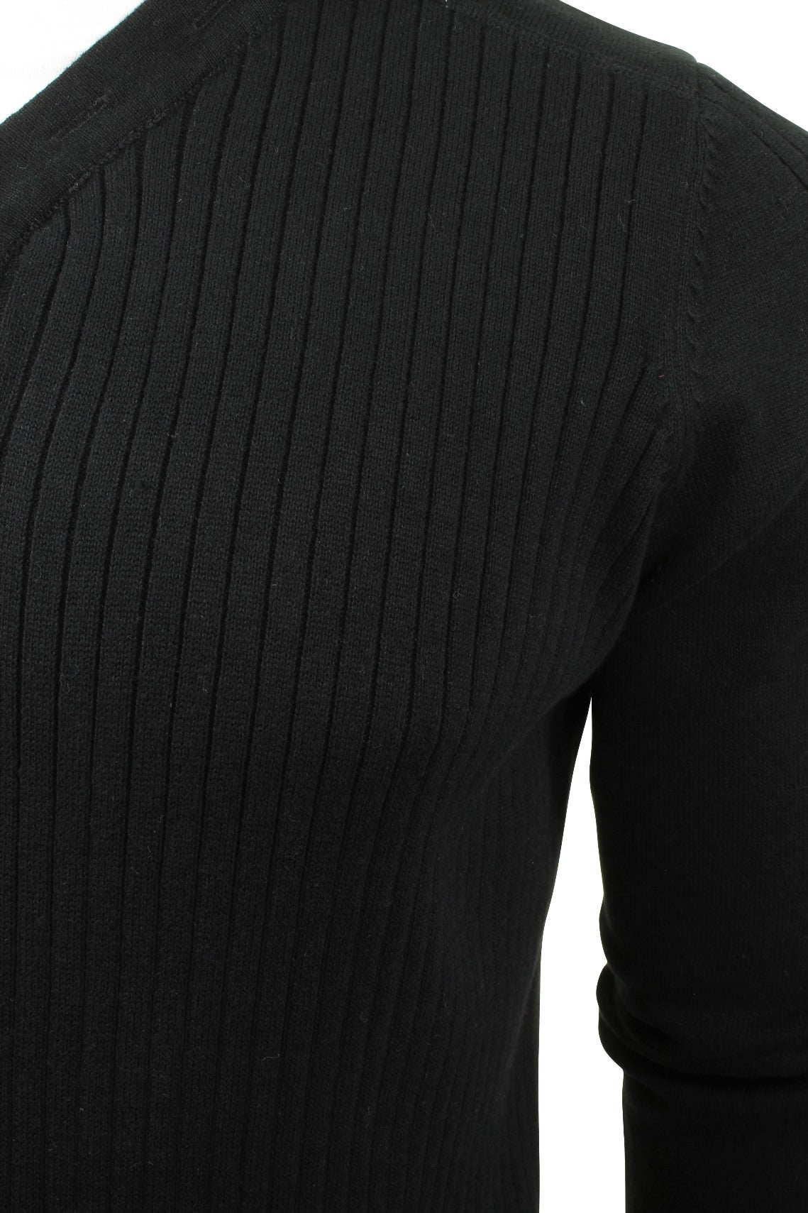 Mens Ribbed Jumper by Dissident 'Peloton' Mock T Shirt-2