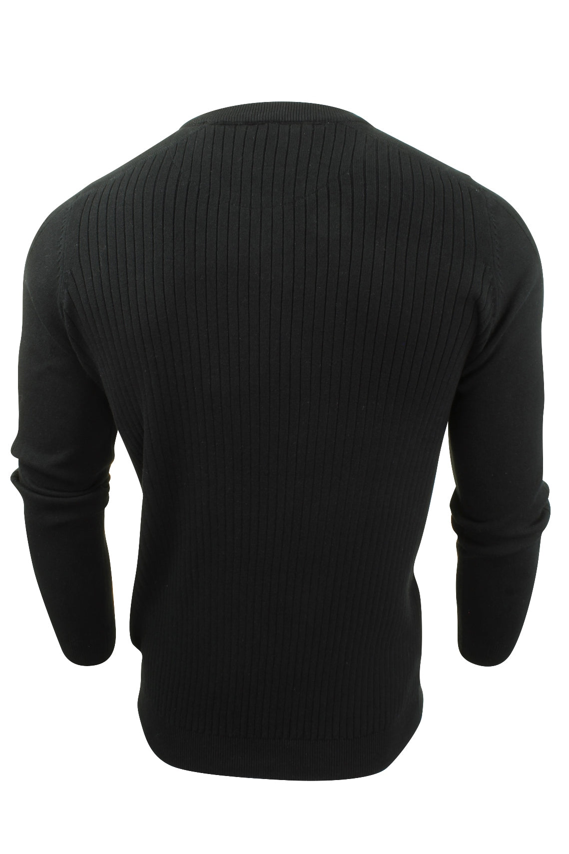 Mens Ribbed Jumper by Dissident 'Peloton' Mock T Shirt-3