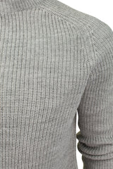 Mens Turtle Neck Knit Jumper by Dissident 'Mino' Wool Mix-2