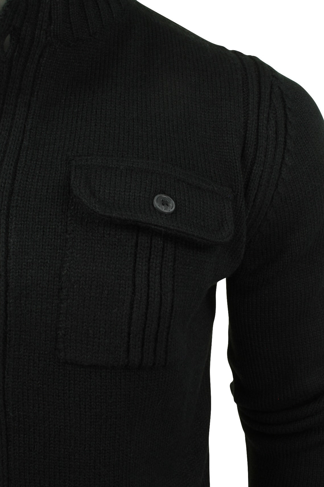 Mens Button Through Cardigan Jumper by Dissident 'Noco' Wool Mix-2