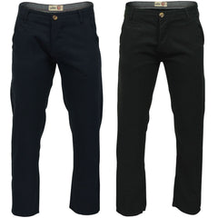 Mens Chino Trousers by Tokyo Laundry 'Damon' Cotton Twill-Main Image