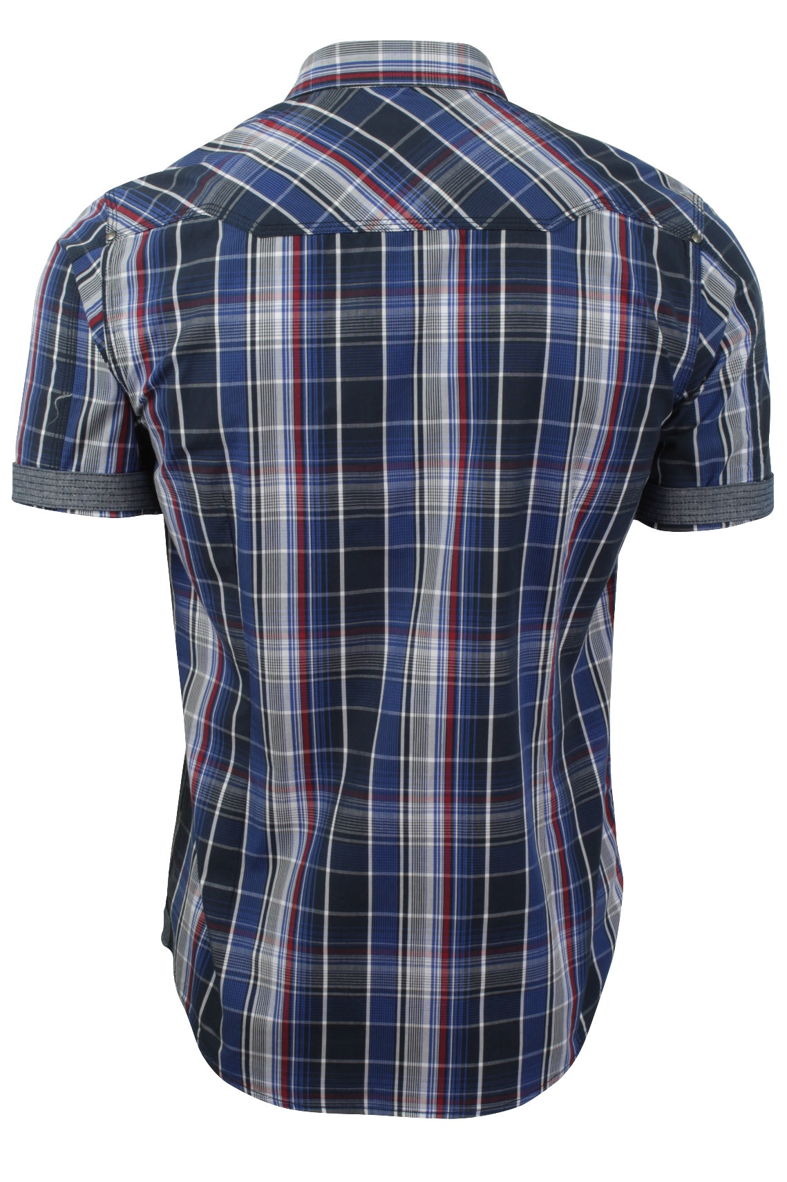 Mens Check Shirt by Dissident 'Valencia' Short Sleeved-3