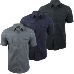 Mens Shirt by Dissident 'Zenna' Short Sleeved-Main Image