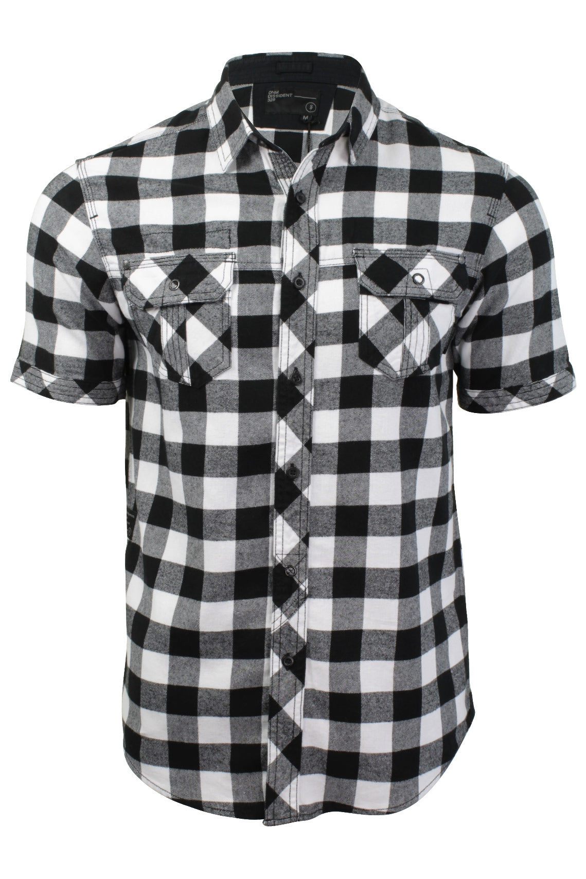 Mens Buffalo Check Shirt by Dissident 'Pedroza' Short Sleeved-Main Image