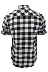 Mens Buffalo Check Shirt by Dissident 'Pedroza' Short Sleeved-3
