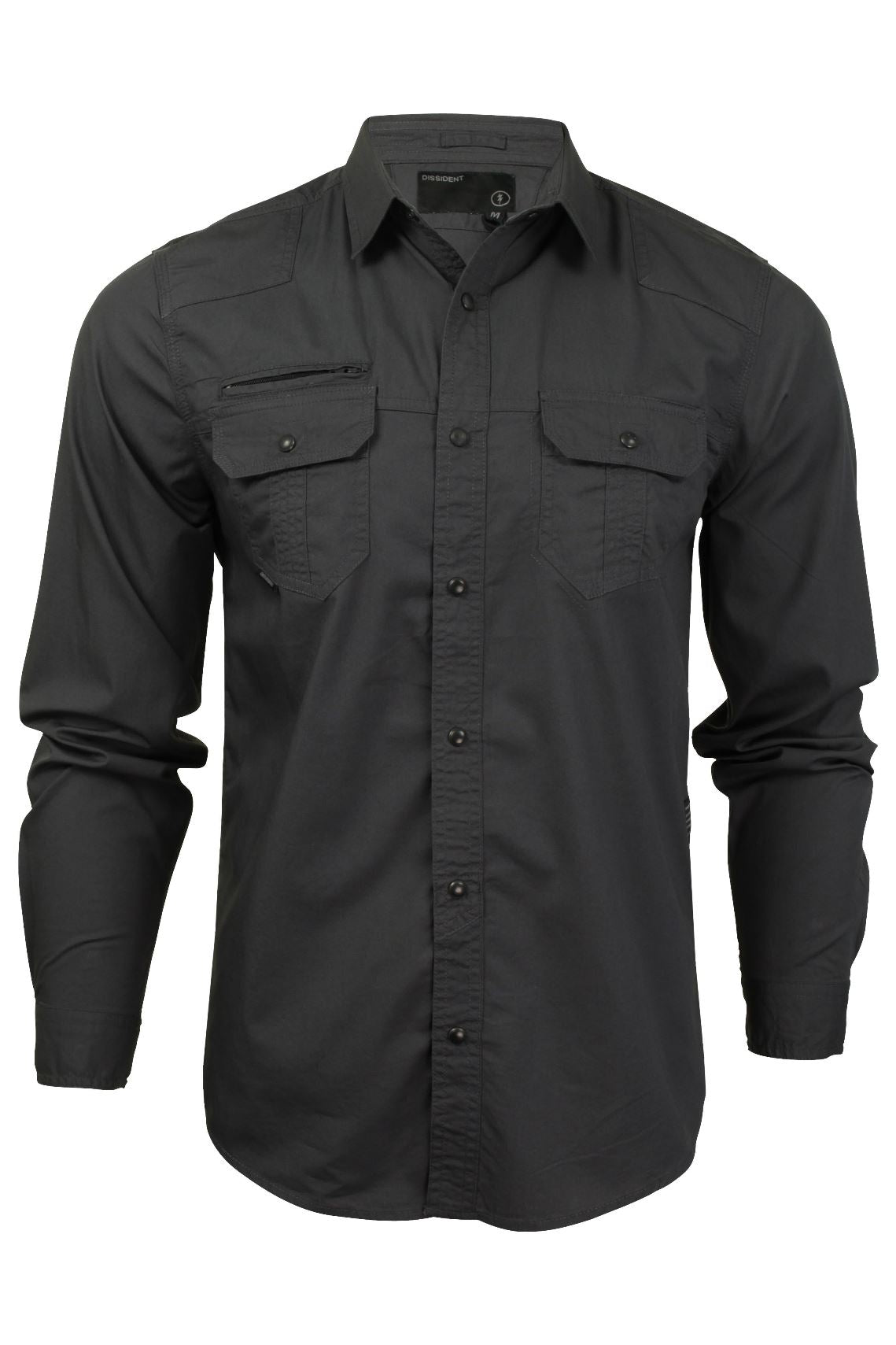 Mens Shirt by Dissident 'Bismarck' Long Sleeved-2