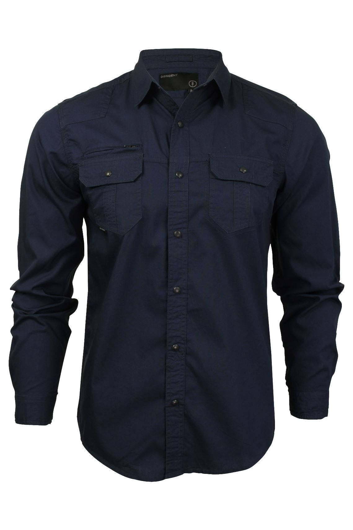 Mens Shirt by Dissident 'Bismarck' Long Sleeved-Main Image