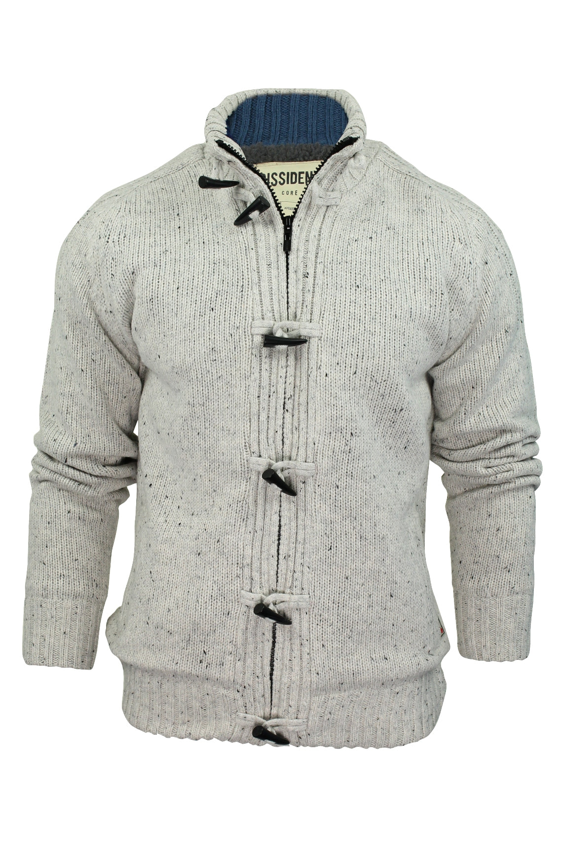 Mens Cardigan/ Jumper by Dissident 'Hawthorn' Sherpa Body Lining-Main Image