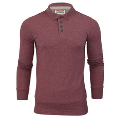 Mens Long Sleeved Polo Shirt by Tokyo Laundry-Main Image