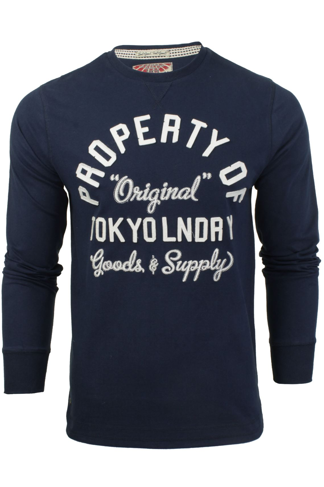Mens Long Sleeved T-Shirt/ Top by Tokyo Laundry-Main Image