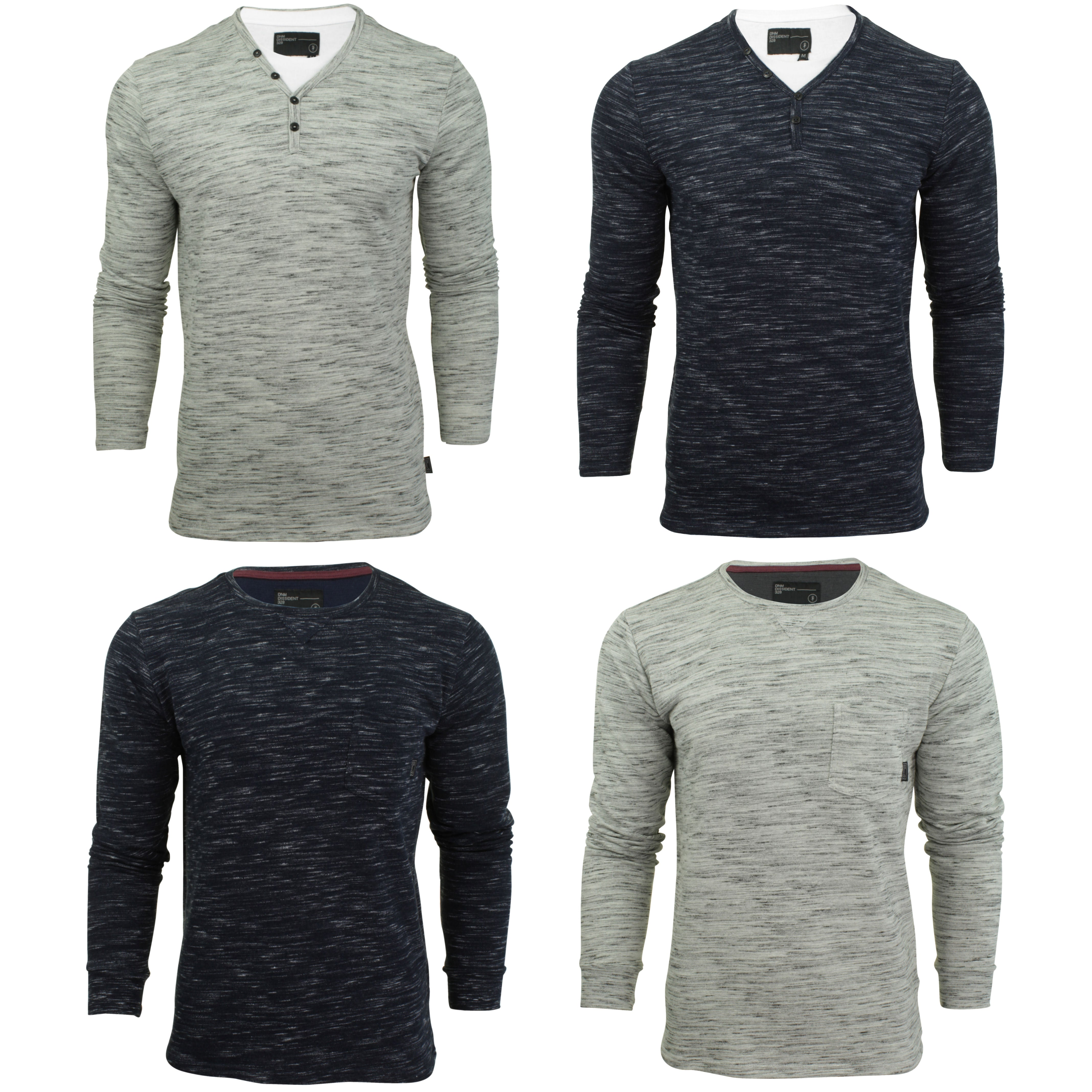 Mens Long Sleeved T-Shirt by Dissident 'Forsey' Crew Neck-Main Image
